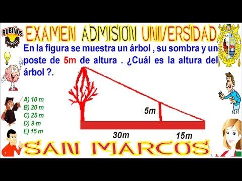 Examen San Marcos 2017 Ii Admisión Universidad Trigonometría Unmsm 2017-2 Razones Trigonométricas
