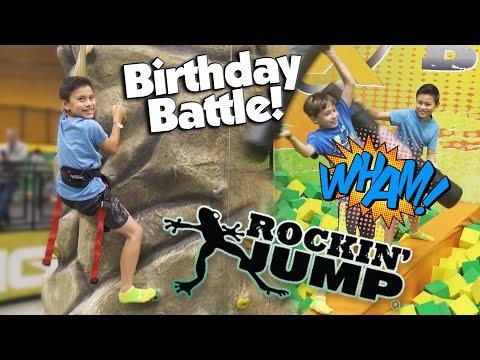ROCKIN' JUMP BIRTHDAY BATTLE!!! Evan's 11th Birthday Party!