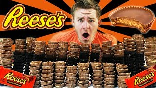 250 REESE'S PEANUT BUTTER CUP CHALLENGE! (20,000+ CALORIES)