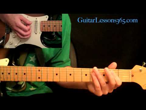 Motley Crue - Dr. Feelgood Guitar Lesson Pt.2 - Chorus &amp; 1st Guitar Solo