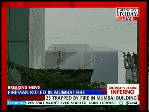 Navy choppers rescue firemen in Mumbai
