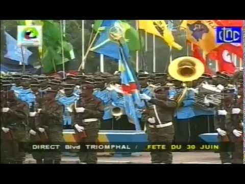 l'arrivée de Joseph Kabila à la fête de l'indépendance de la RDC ce 30 juin 2014