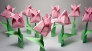 Origami Lale yapımı