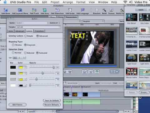 Get Going With DVD Studio Pro 101 Tutorials - Create Custom Buttons & Text