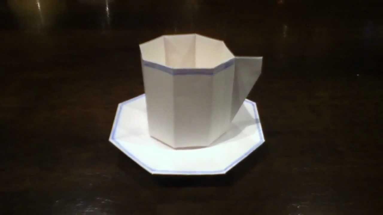 すべての折り紙 折り紙 ケーキ : 折り紙で! コーヒーカップ ...