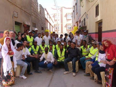 بالفيديو: احتفال شعبي بعامل النظافة بحي أزرو بأكادير