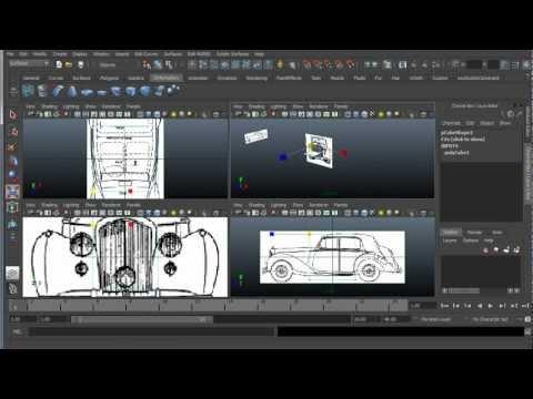 Maya Modeling 101 - Reference Image Setup