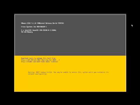 VMware ESXi Install and Configure