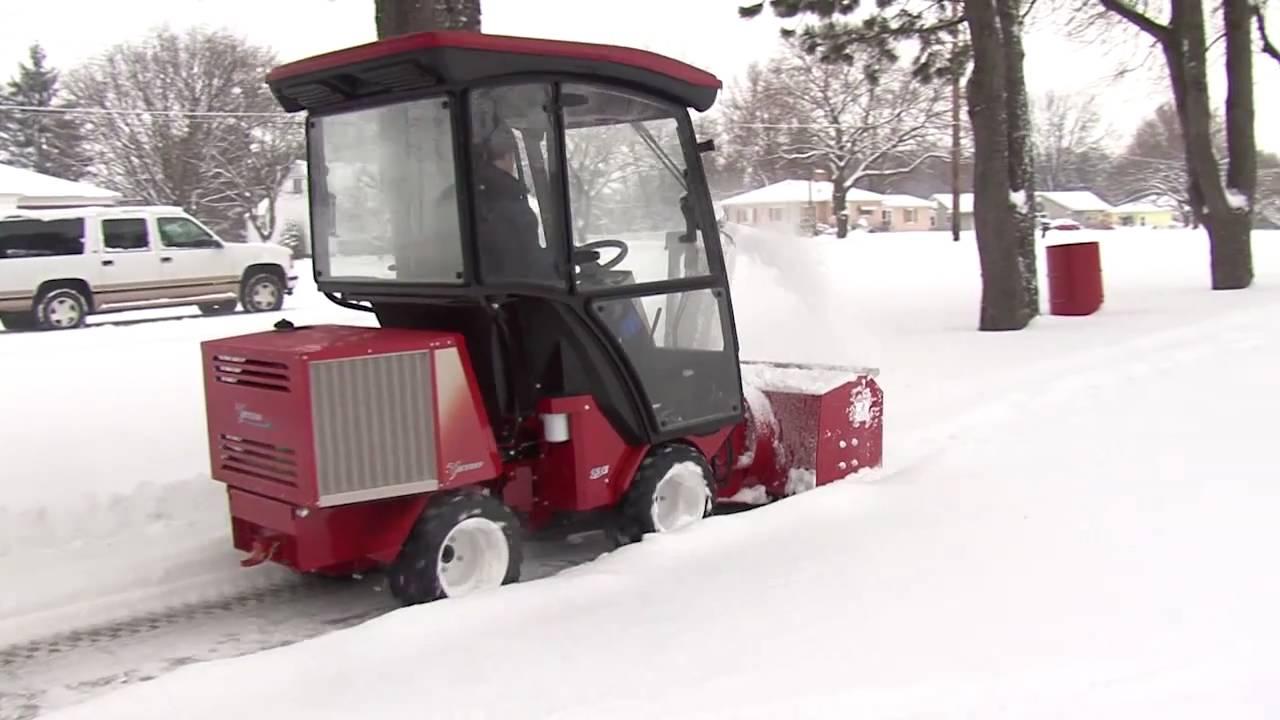 Sidewalk Snow Blower - YouTube