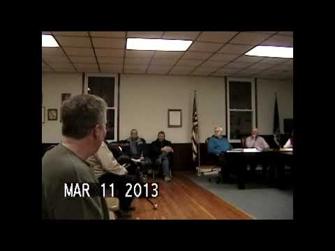Chazy Town Board Meeting 3-11-13