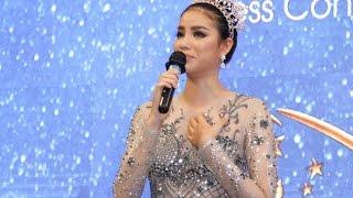 Hoa hậu Phạm Hương bật khóc tại buổi họp báo công bố hoa hậu hoàn vũ 2017