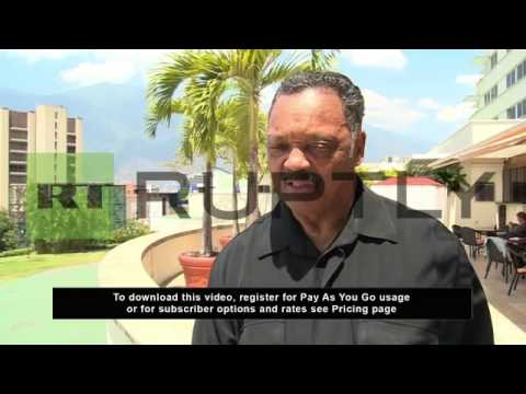 Venezuela: Rev. Jesse Jackson says US needs good relations with Venezuela to keep the oil flowing
