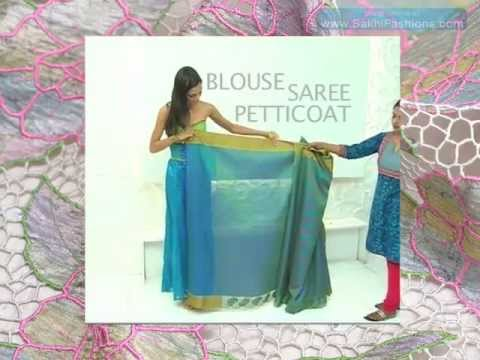 How to drape an Indian saree ...www.SakhiFashions.com