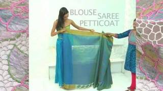 How To Drape An Indian Saree www.SakhiFashions.com