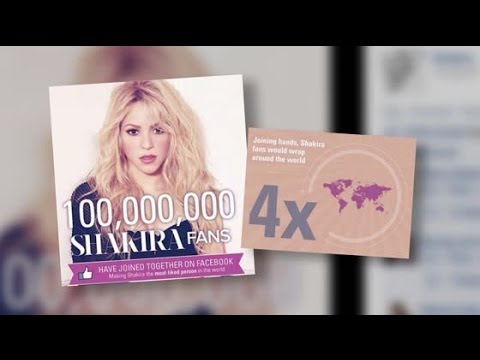 Shakira Becomes the Most Liked Celebrity on Facebook
