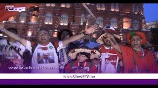 بالفيديو:الجمهور المغربي يؤدي النشيط الوطني ويستمتع بالموسيقى الكناوية بساحة دير سكوير بروسيا | بــووز