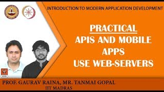 Module P6: Practical: APIs and mobile apps use web-servers