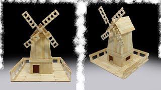 Cómo hacer un molino con palitos