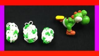 RAINBOW LOOM HOW TO MAKE EASY CHARMS YOSHI EGG Or EASTER