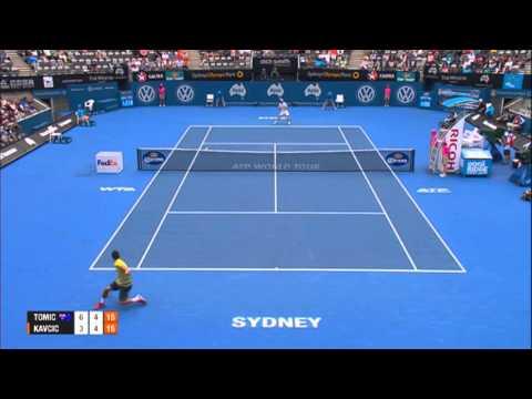 Bernard TOMIC (AUS) vs Blaz KAVCIC (SLO) HIGHLIGHTS Apia International Sydney 2014