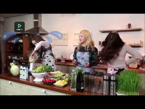 150220 SNSD Tiffany Yuri Hyoyeon (YulTiHyo) - Tiffany's Fruit Juice @ Line TV