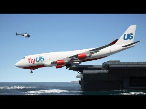 "Massive Air Plane ""Stunning Landing"" at AirCraft Carrier (GTA 5 Funny Moments)"