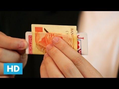 Como fazer a ilusão de óptica da Carta e do Dinheiro