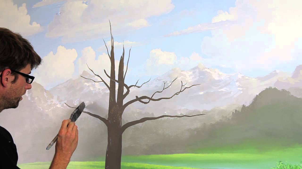 Clip from how to paint trees with mural joe youtube for Mural joe painting