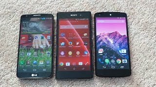 GOOGLE NEXUS 5 VS SONY XPERIA Z1 VS LG G2: SNAPDRAGON 800