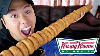 100 LAYERS OF DONUTS!!!!! (99% OF PEOPLE CAN'T DO THIS)