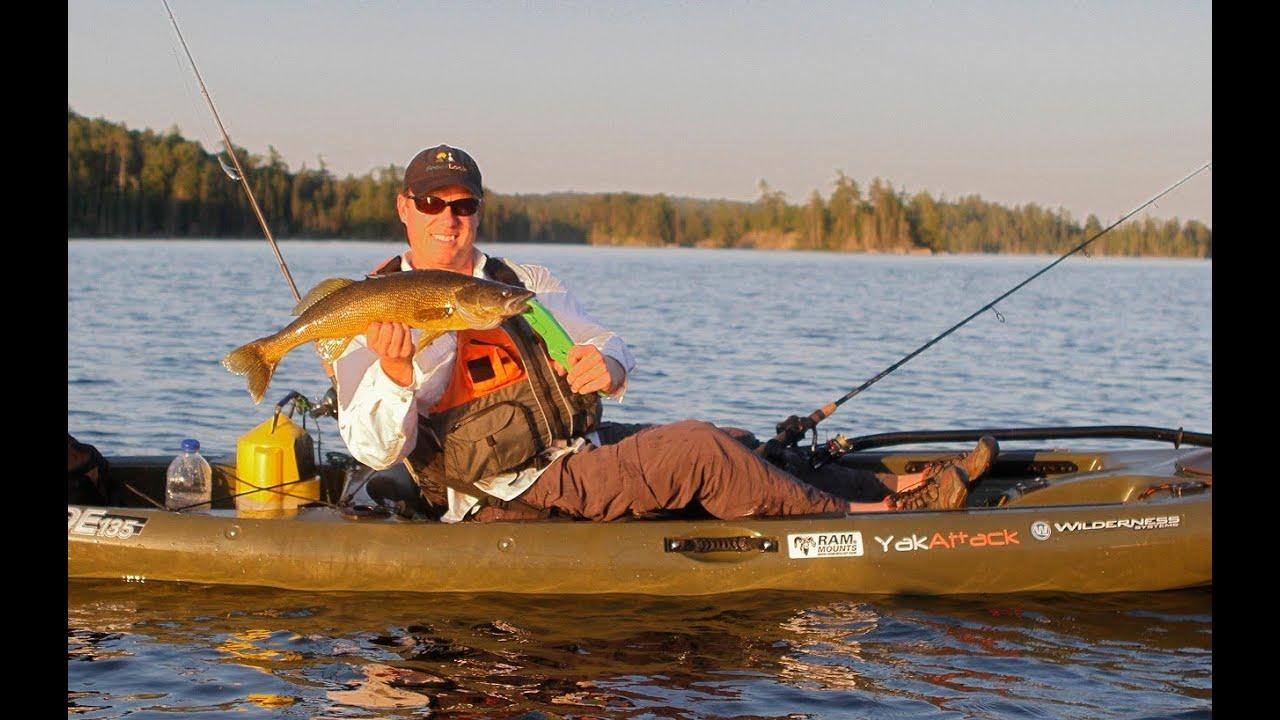Kayak walleye fishing youtube for Youtube kayak fishing