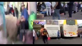 بالفيديو..قبل يومين على عيد الأضحى..الفوضى فمحطة ولاد زيان فكازا و الحوالة فالكيران |
