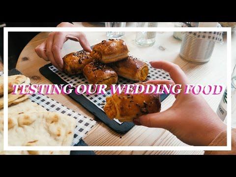 TESTING OUR WEDDING FOOD