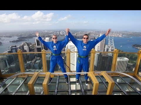 Petra Kvitova Visits Sydney Tower Skywalk