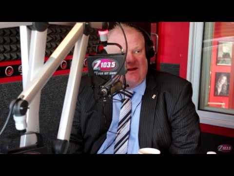 Mayor Rob Ford and Councillor Doug Ford of Toronto visit Z103.5!