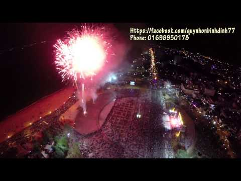 [Flycam Firework] Bắn pháo hoa quảng trường Quy Nhơn, Bình Định 2015