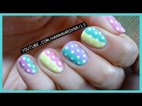 Cute Pastel Spring Nail Art