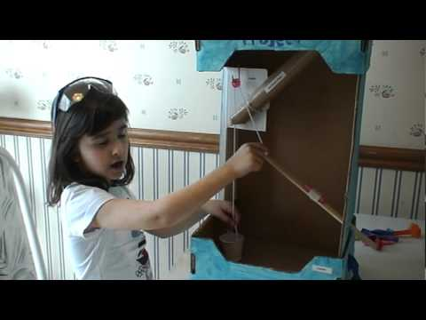 Simple machine project with inclined planes, lever, pulley ...