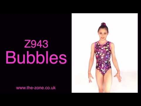 Bubbles Print Gymnastics Leotard