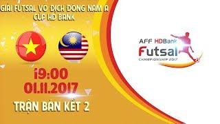 FULL | Việt Nam vs Malaysia | Bán kết 2 - Giải Futsal vô địch Đông Nam Á cúp HDBank 2017
