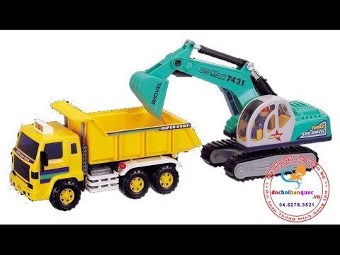 Xe tải máy xúc Daesung Toys - dochoihanquoc.vn - 0462783521
