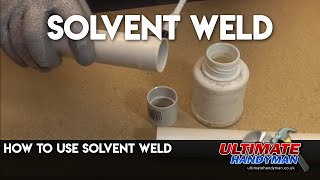 How to Solvent weld pipes