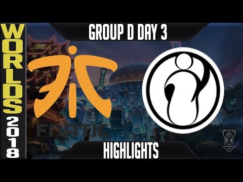 FNC vs IG Highlights | Worlds 2018 Group D Day 3 | Fnatic(EULCS) vs Invictus Gaming(ChinaLPL)