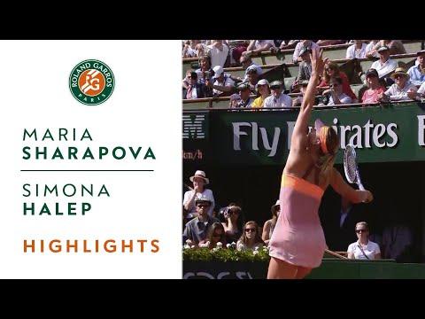 Sharapova v. Halep 2014 French Open Women's Final Highlights