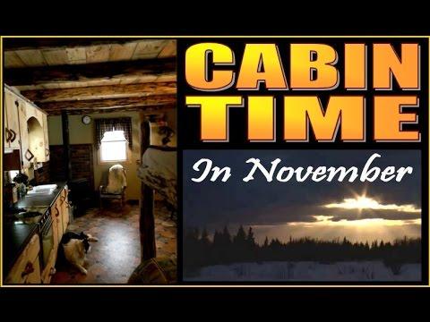 CABIN LIFE. Simple Pleasures In The November Woods.