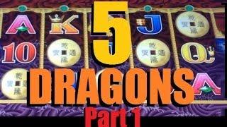 BIG WIN!! 5 Dragons Legends Slot Machine Bonus