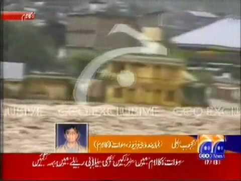 Flood Destroyed Homes In Kalam - Pakistan.flv