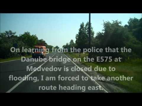 Attempting to cross the flooded Danube near Győr : Sicily to Ukraine by camper van part 68