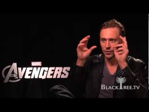 THE AVENGERS Tom Hiddleston Get's  Into Character!