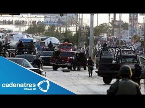 Se registra balacera en una protesta contra caballeros templarios / Balacera en Michoacán